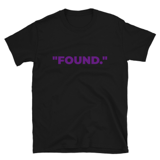 'FOUND' Black T-Shirt