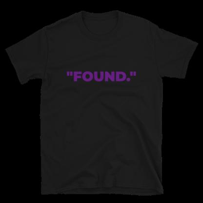 'FOUND' Black T-Shirt